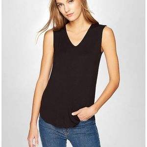 Tops - Jersey v-neck black shirt work or casual size S